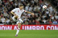 England captain Steven Gerrard during their World Cup qualifying match against Ukraine on September 11. He admitted to feeling hard done-by after being sent off in his side's lacklustre 1-1 draw against Ukraine