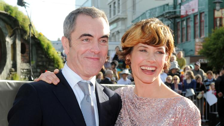 "Cast members James Nesbitt who plays Bofur, left, and Canadian actress Evangeline Lilly pose on the red carpet at the premiere of ""The Hobbit: An Unexpected Journey,"" at the Embassy Theatre, in Wellington, New Zealand, Wednesday, Nov. 28, 2012. (AP Photo/SNPA, Ross Setford) NEW ZEALAND OUT"