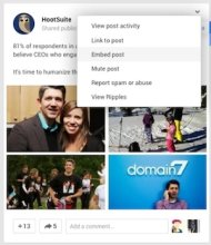 Why Google+ Is Sneaking Up On Facebook image hootsuite google plus activity