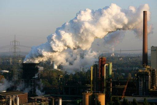 Steam rises from the Prosper coking plant in 2010 in Bottrop, Germany. Rising energy prices pushed up annual inflation to 2.3 percent in advanced economies in October from 2.2 percent the previous month, the Organisation for Economic Cooperation and Development says.
