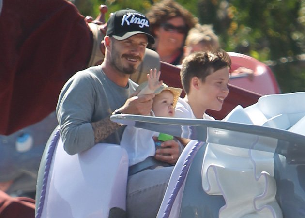 Harper Beckham, Disneyland, David Beckham