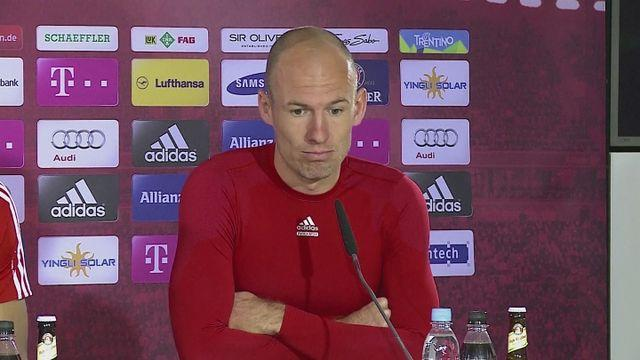 Robben expecting tough match against Manchester United