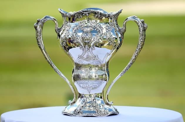 The trophy won by George Lyon of Canada at the 1904 Olympics, the last time golf featured at the Games