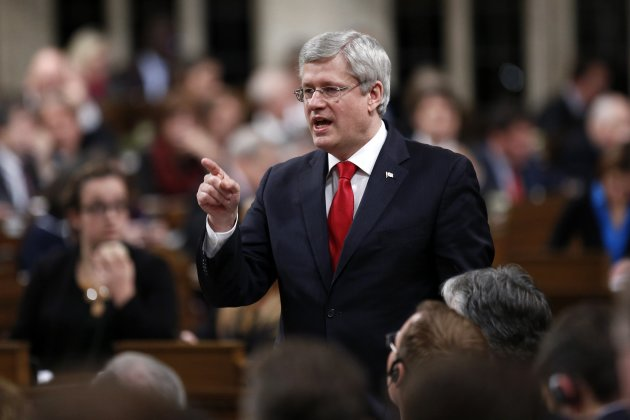 Prime Minister Stephen Harper speaks in the House of Commons on Parliament Hill Dec. 3, 2014. (Reuters)