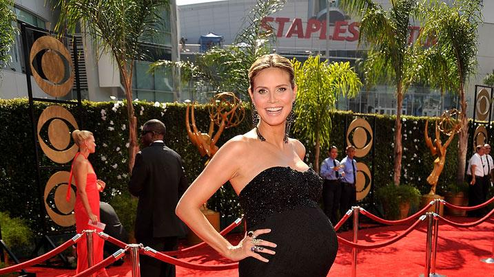 Heidi Klum arrives at the 61st Primetime Emmy Awards held at the Nokia Theatre on September 20, 2009 in Los Angeles, California.