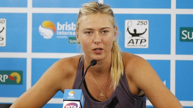 Maria Sharapova of Russia speaks during a news conference at the Brisbane International tennis tournament in Brisbane January 1, 2013 (Reuters)
