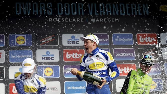Topsport Vlaanderen-Baloise's Wallays wins the 70th Dwars door Vlaanderen cycling race in Waregem