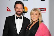 Hugh Jackman and Deborra-Lee Furness arrive for the G'Day USA Black Tie Gala held at at the JW Marriot at LA Live on January 12, 2013 in Los Angeles -- Getty Premium