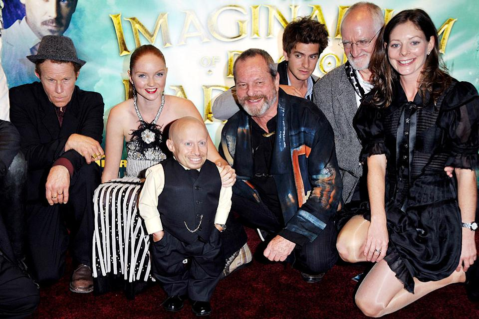 The Imaginarium Of Doctor Parnassus UK Premiere 2009 Tom Waits, Lily Cole, Verne Troyer, Terry Gilliam, Andrew Garfield, guest and Amy Gilliam