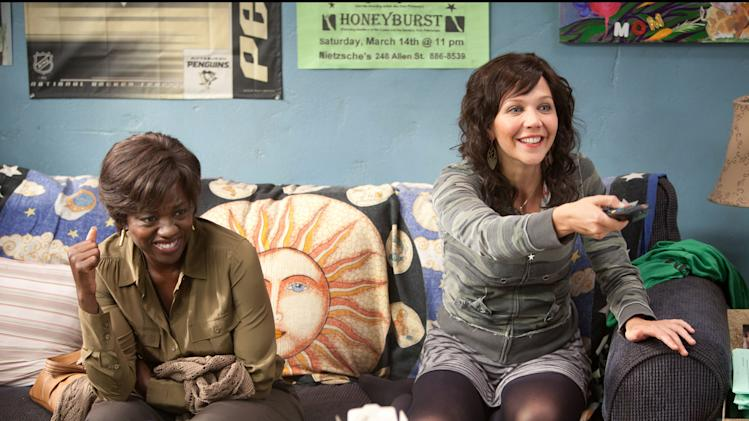 "This film image released by 20th Century Fox shows Maggie Gyllenhaal, right, and Viola Davis in a scene from ""Won't Back Down.""  (AP Photo/20th Century Fox, Kerry Hayes)"