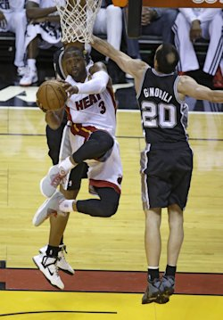 Dwyane Wade missed nine of his first 10 shots in Game 4. (AP)