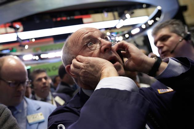 US stocks ease for second day; price of crude oil soars