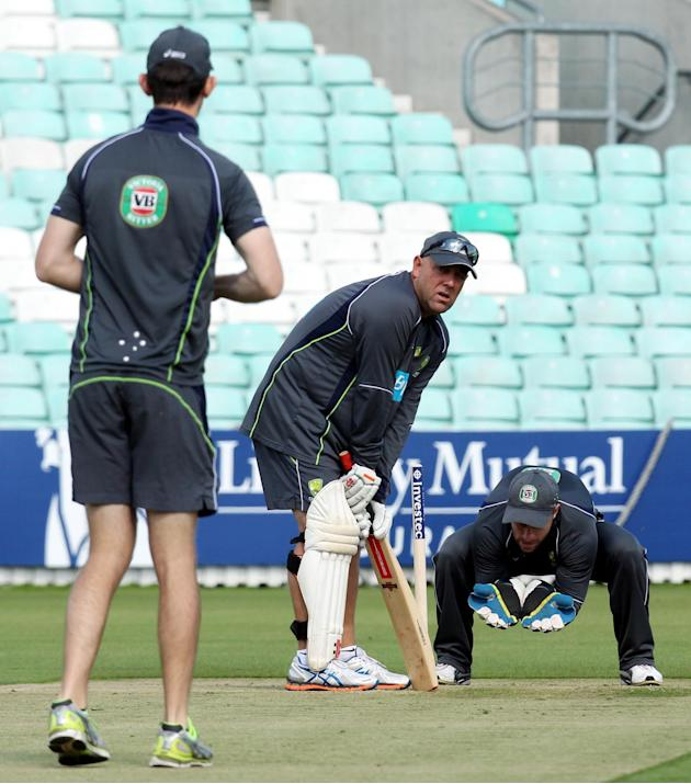 Cricket - Fifth Investec Ashes Test - England v Australia - Australia Nets - Day One - The Kia Oval