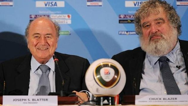 The way we were: Sepp Blatter and Chuck Blazer.