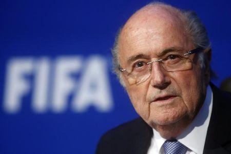 FIFA President Blatter speaks during a news conference after the Extraordinary FIFA Executive Committee Meeting at the FIFA headquarters in Zurich