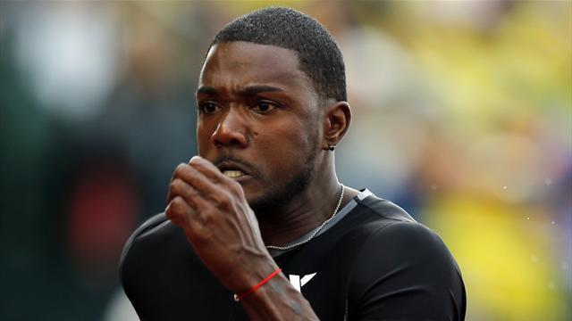 Athletics - Gatlin beats compatriot Rodgers in Beijing