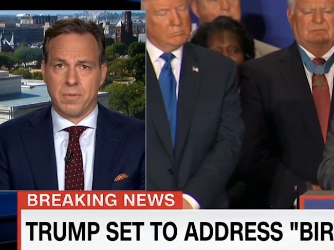 jake tapper donald trump rickroll