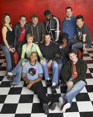 Clockwise from left: Nicole Parker (II), Ron Pederson, Frank Caliendo, Aries Spears, Paul Vogt, Bobby Lee, Ike Barinholtz, Daniele Gaither, Michael James McDonald, Keegan Michael Key, Stephnie Weir FOX's MADtv