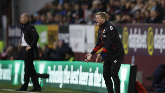 Bournemouth manager Eddie Howe and Burnley manager Sean Dyche