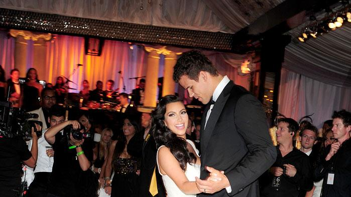 "Kim Kardashian and Kris Humphries as seen on ""Kim's Fairytale Wedding."""