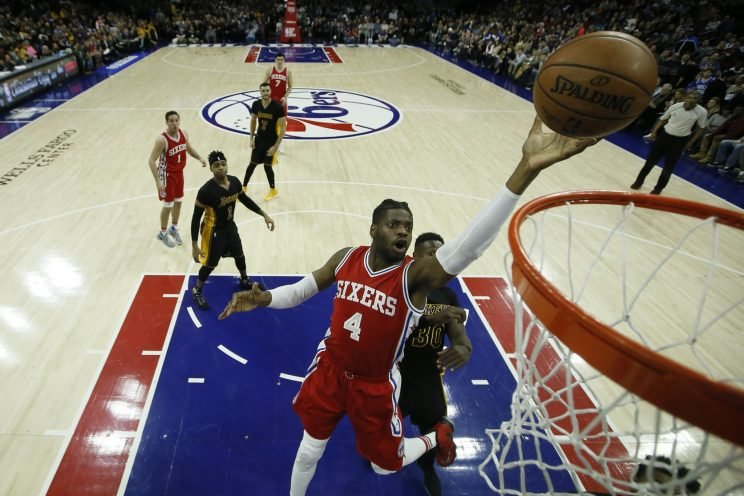 Nerlens Noel will no longer spend much time around the basket. (Associated Press)