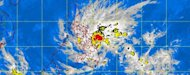 "MTSAT ENHANCED-IR Satellite Image of Tropical Storm ""Quinta"" 5:30 p.m., 25 December 2012 (Pagasa)"