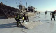 China Weather: Ships Stranded As Sea Freezes
