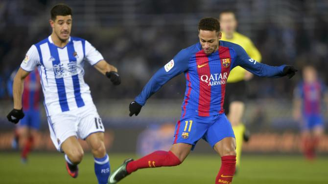 Football Soccer - Real Sociedad v Barcelona - Spanish King's Cup