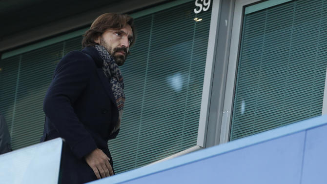 New York City's Andrea Pirlo in the stands