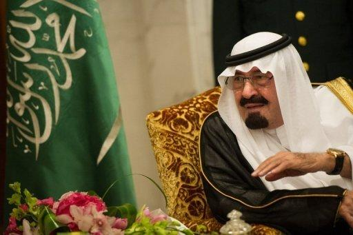 """King Abdullah of Saudi Arabia, pictured here on November 4, has """"successfully"""" undergone a new operation to correct """"a ligamentary slackening in the upper back"""", the royal cabinet announced Sunday"""