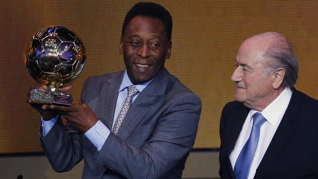 South American Football - FIFA gives Pele special award at Ballon d'Or ceremony