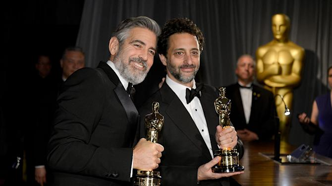 85th Annual Academy Awards - Governors Ball: George Clooney and Grant Heslov