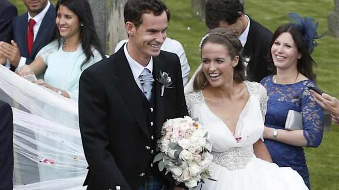 Tennis - Andy Murray dons kilt as he marries Kim Sears in Dunblane