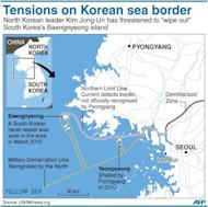 "A graphic showing the South Korean island of Baengnyeong that North Korean leader Kim Jong-Un has threatened to ""wipe out"