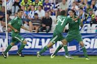 File photo shows Panathinaikos players during a Champions League qualifying match in July 2011. Qualifying for next May's Champions League final at London's Wembley Stadium is already underway, and some major names enter the fray this midweek