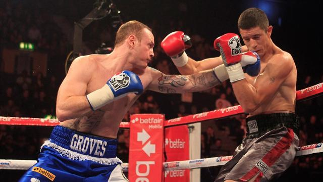 Boxing - Groves wins in Matchroom debut at Wembley Arena