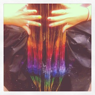 Made In Chelsea's Gabriella Ellis Debuts Colourful Hair Style: Are You A Fan Of The Rainbow-Bright Dip-Dye?