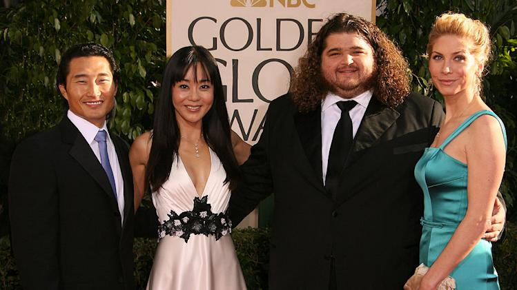 Daniel Dae Kim, Yunjin Kim, Jorge Garcia and Elizabeth Mitchell at the 64th annual Golden Globe Awards.
