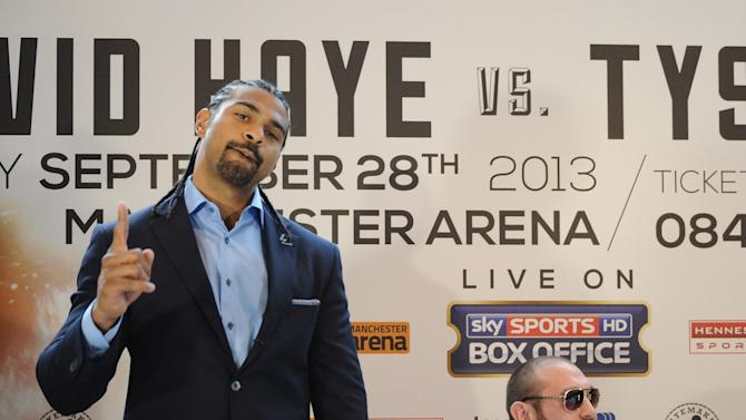 David Haye And Tyson Fury Press Conference
