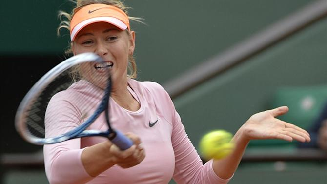 French Open - Sharapova blows away Ksenia to reach round two