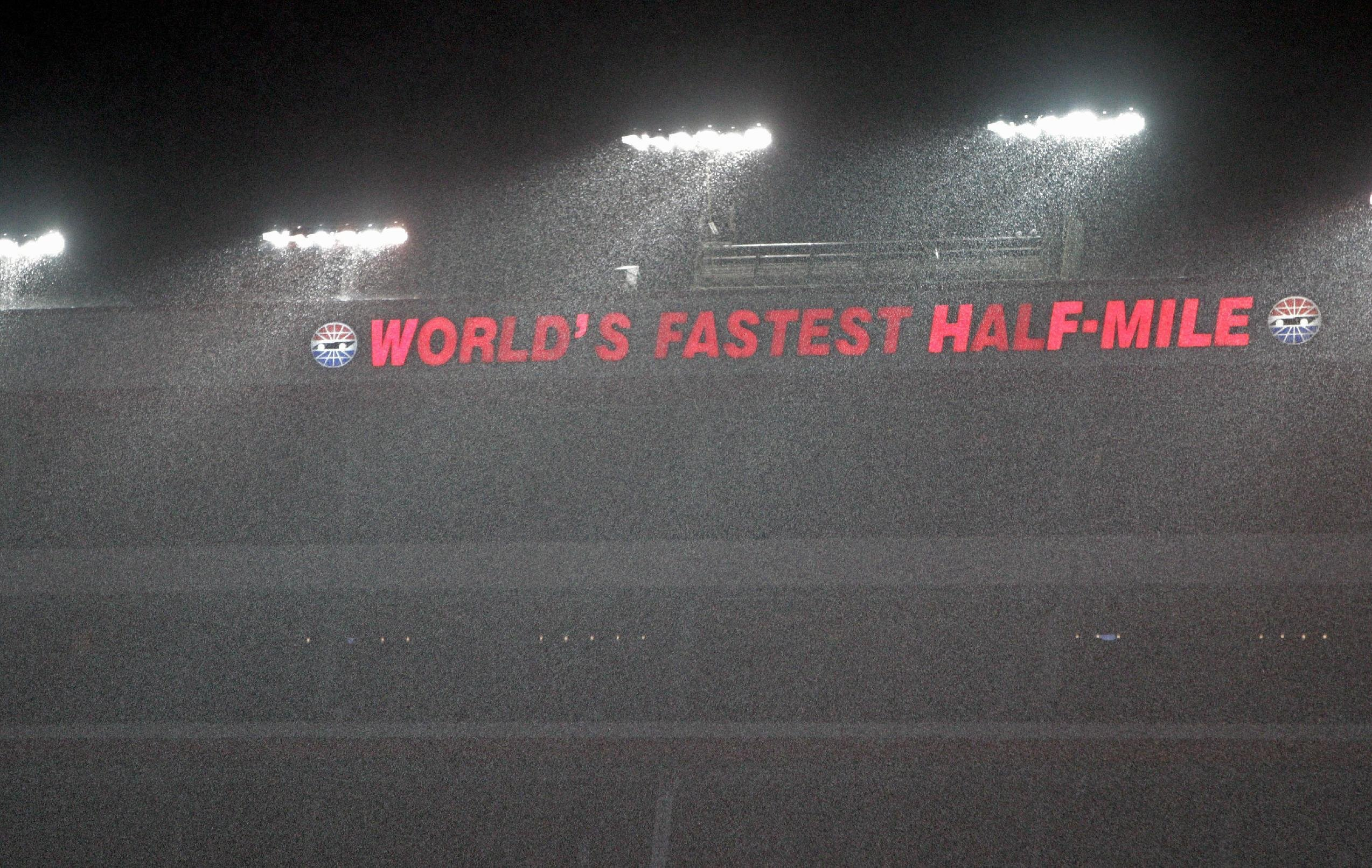 Rain at Bristol altered the entire race. (Getty Images)