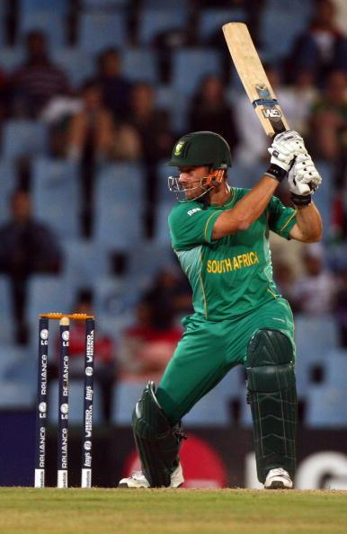 CENTURION, SOUTH AFRICA - SEPTEMBER 22:  Mark Boucher of South Africa hits out during The ICC Champions Trophy Group B match between South Africa and Sri Lanka played at Super Sport Park on September