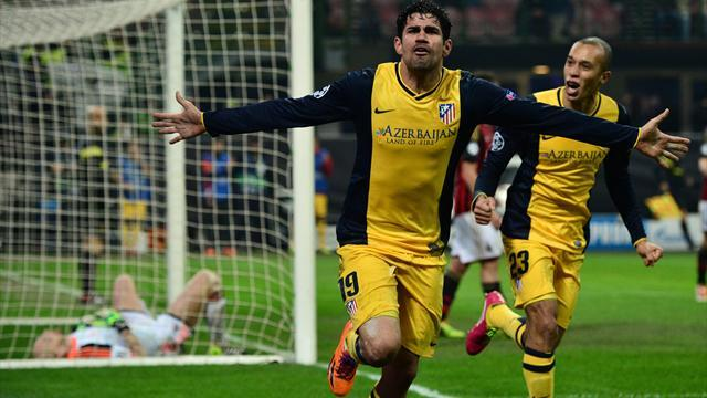 Champions League - Costa strikes late as Atletico sink Milan