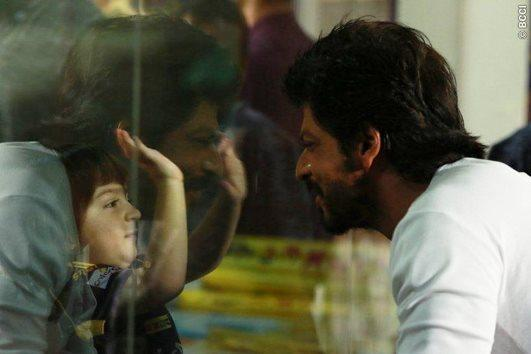 Cuteness blast! SRK plays with son AbRam on cricket ground