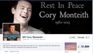Cory Monteiths Death   How Glee Fans Responded Via Social Media image screen shot 2013 07 20 at 8 15 12 pm
