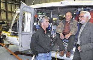 CC Helicopters president Trevor Moore, left, in this March 31, 2009 file photo.