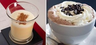 egg nog vs. hot chocolate