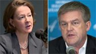 Alberta Premier Alison Redford met in Calgary with New Brunswick David Alward in February to discuss the prospect of building a west-east pipeline.