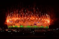 Fireworks explode over the Olympic stadium during the closing ceremony of the 2012 London Olympic Games in London.The London Olympics lost its first medallist to a doping scandal on Monday as Belarus shot-putter Nadezhda Ostapchuk was stripped of gold a day after the Games closed in a blaze of music and colour