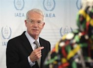 U.S. International Atomic Energy Agency (IAEA) ambassador Joseph Macmanus talks to the media during an IAEA meeting in Vienna June 5, 2013 file photo. REUTERS/Heinz-Peter Bader
